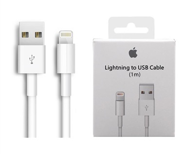 Apple Orjinal Apple iPhone 7 - 8 Plus Şarj Kablosu Lightning Usb Data Kablo 1 Metre Md818Zm/A Renkli